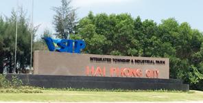MAIN GATE OF VSIP HAI PHONG
